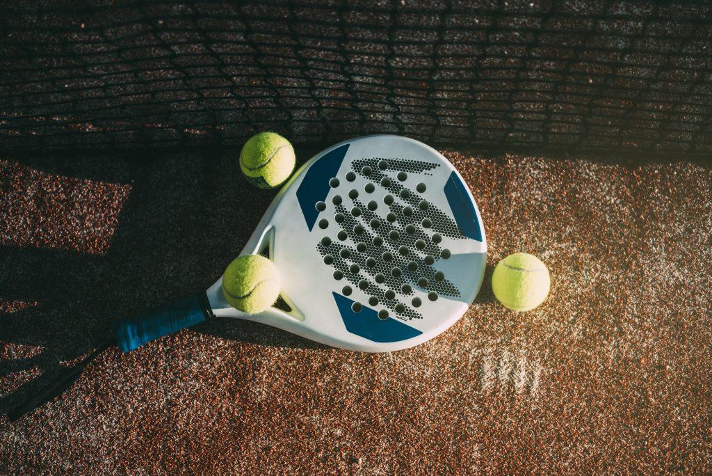 Padel blade racket on the floor